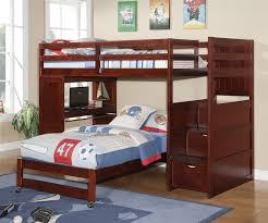 image of wood bunk bed stairs bunk beds stairs desk