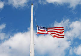 Image result for USA flags half mast picture