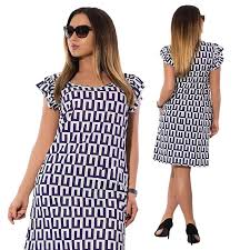 <b>Plus Size</b> Women Short Sleeve <b>5XL 6XL</b> Geometric Pattern Print ...