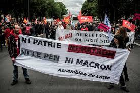Resultado de imagen de fotos ni patrie ni patron ni Le Pen ni Macron
