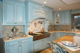 painted blue kitchen cabinets house: french country kitchens blue decorating ideas  kitchen