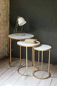 living tables furniture brass amp marble round nest of  side tables coffee amp side tables fur