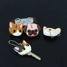 <b>CARTOON</b> SILICONE KEY Cover Lovely Key Cap Dog Puppy Cat ...