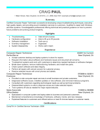 sample of pc technicien resume computer technician s resume sample dancer cover letter resume template for project manager associate computer technician