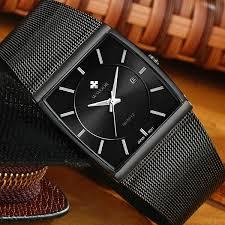 <b>WWOOR Top Brand</b> Luxury <b>Men</b> Square Waterproof Sports Watches ...