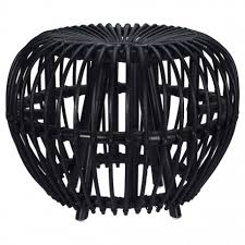 Home&Styling Kubu Stool Brussel Rattan Black