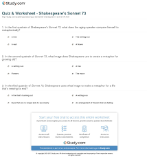 quiz worksheet shakespeare s sonnet com print shakespeare s sonnet 73 summary theme analysis worksheet