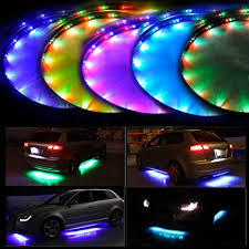 <b>Car</b> Parts 4x <b>Car</b> RGB <b>LED</b> Neon Under Glow <b>Atmosphere</b> Chassis ...