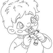 Small Picture GINGERBREAD MAN coloring pages 5 free Xmas printables to color