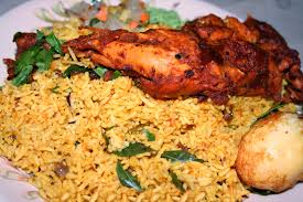 Image result for Indian man eating biryani