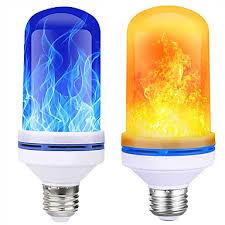 1pc Corn <b>Lights</b> New <b>LED</b> Wall <b>Light</b> With Flame Effect For Garden ...