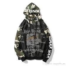 <b>Camouflage Patchwork Hoodies</b> Men 2019 Spring <b>Autumn</b> Pullover