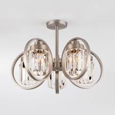 <b>Люстра Eurosvet 10095/5</b> сатин-никель / прозрачный хрусталь ...