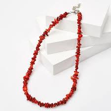 <b>Бусы коралл красный</b> Индонезия (<b>биж</b>. сплав) 43 см (+7 см ...