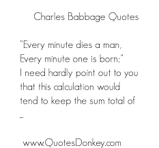 Charles Babbage's quotes, famous and not much - QuotationOf . COM