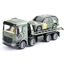 <b>Грузовик</b>-<b>трейлер</b> + джип <b>радиоуправляемый Zhoule Toys</b> ...