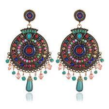 Buy Youbella <b>Bohemian</b> Multicolor Metal <b>Earrings For Women</b> at ...
