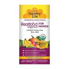 Country Life <b>Realfood Organics</b>® For <b>Women</b> -- 120 Tablets - Vitacost