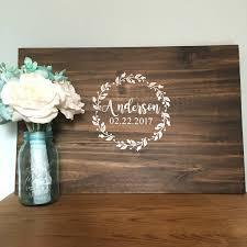Floral <b>wreath</b> with name -<b>GUEST</b> BOOK ALTERNATIVE - <b>Wedding</b> ...