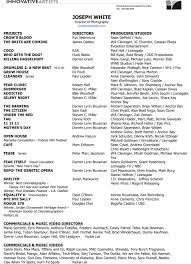 resume for director of photography cipanewsletter resume u2014 joseph white