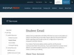 my indiana tech email login