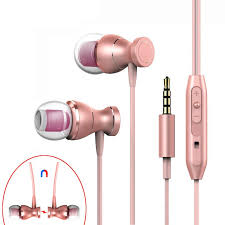 Magnetic <b>In-Ear</b> Wired Earphone for Phone with Microphone 3.5mm ...
