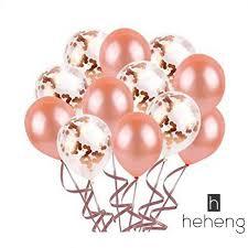<b>30pcs 12 inch Rose Gold</b> Latex Wedding Balloon Confetti Balloon ...