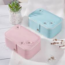 ycys woman lady girls actress portable travel jewelry organizer earring ring necklace watch cosmetic storage container box case