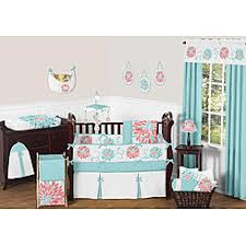 sweet jojo designs turquoise and coral emma baby bedding 9pc crib set by sweet jojo designs baby mickey crib set design