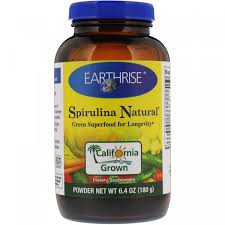 Натуральный <b>порошок спирулина</b>, Earthrise, 6.4 унции (180 <b>г</b> ...