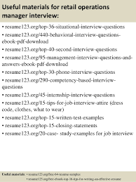 top retail operations manager resume samples  12 useful materials for retail operations manager