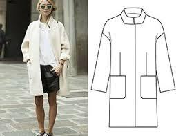 Готовая выкройка <b>прямого пальто</b> | Рубашка своими руками ...
