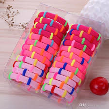 <b>24pcs set nylon hair</b> ring hairbands Korean creative blending hair