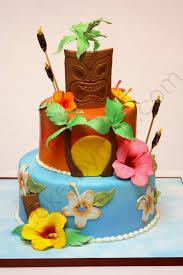 Decorated Birthday Cakes Hawaiian Themed Birthday Cake Cakecentralcom