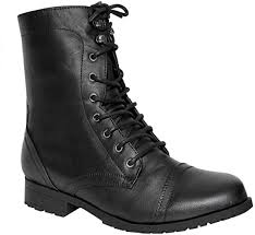 <b>Women</b> Lace up <b>Military</b> Combat Ankle Boots: Amazon.co.uk: Shoes ...