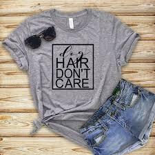 Dog <b>Hair Don't Care Funny</b> Dog Shirts For Women, Dog Lover Shirt ...