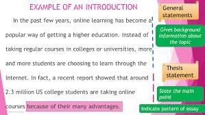 teaching writing effective introductions trang le course gsl in the past few years online learning has become a popular way of getting a