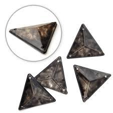 17 x 17mm Triangle Antique Resin <b>Acrylic</b> Sew-on by <b>12 PCS</b> ...