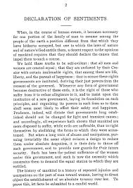 seneca falls convention – women    s suffragethis is one page of the declaration of sentiments  image from  https