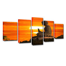 2019 Only Canvas No Frame Sunset <b>Buddha</b> Pictures Modular ...