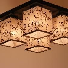 lombardia ceiling lights 4 brown fabric lighting