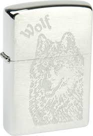 <b>Зажигалка Zippo</b> (200 <b>Wolf</b>) <b>Wolf</b> с покрытием Brushed Chrome ...
