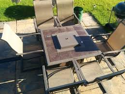 patio table and 6 chairs: patio table with firepit patio gas and  chairs  seater swing