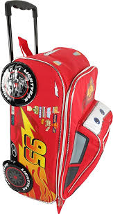Disney Pixar <b>Cars</b> Rolling <b>Lightning McQueen Luggage</b>