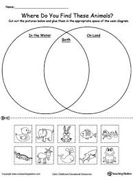 ideas about venn diagrams on pinterest   compare and    venn diagram animals in water and on land  practice sorting items into groups based on