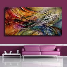 100% <b>Hand Painted Modern Abstract</b> Oil Paintings Home Wall Art ...
