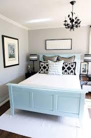 ideas light blue bedrooms pinterest: light grey light blue and dark accents guest room ideas