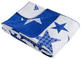 Купить <b>Плед KARNA хлопок</b> STARS, 130 x 170 см голубой по ...