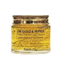 [<b>Farmstay</b>] <b>24K Gold &</b> Peptide Perfect Ampoule Cream 80ml $15.40