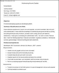 sample resume bookkeeper sample resume bookkeeper makemoney alex tk